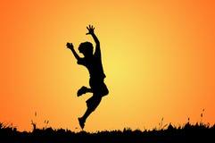 Il salto del ragazzo Fotografia Stock