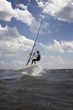 Il salto del Windsurfer Fotografia Stock Libera da Diritti