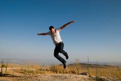 Il salto dell'uomo Fotografia Stock Libera da Diritti