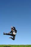 Il salto dell'uomo d'affari Fotografia Stock