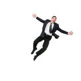 Il salto dell'uomo d'affari Immagine Stock Libera da Diritti