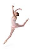 Il salto della ballerina Fotografie Stock