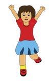 Il salto della bambina illustrazione di stock