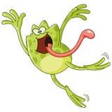 Il salto della rana Immagine Stock