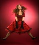 Il salto delle donne Fotografie Stock