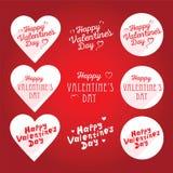 Il saluto felice dell'iscrizione del giorno del ` s del biglietto di S. Valentino firma Fotografia Stock Libera da Diritti
