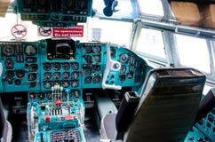 Il-62 samolotu deska rozdzielcza Widok wśrodku pilot kabiny obraz royalty free