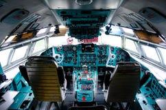 Il-62 samolotu deska rozdzielcza Widok w?rodku pilot kabiny obraz royalty free