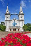 Il san Anna Nong Saeng Catholic Church, punto di riferimento religioso di Nakhon Phanom ha costruito nel 1926 dai preti cattolici Fotografie Stock