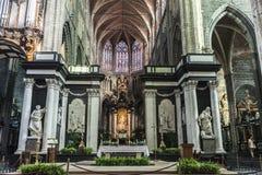 Il san Bavo Cathedral a Gand, Belgio Fotografie Stock
