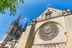 Il san Maurice Cathedral di irrita, la Francia immagini stock libere da diritti