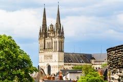 Il san Maurice Cathedral di irrita, la Francia fotografie stock