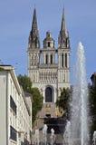 Il san Maurice della cattedrale della facciata a fa arrabbiare in Francia Fotografia Stock