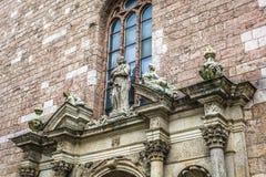 Il san Peters Church è una chiesa luterana alta a Riga, Lettonia Immagine Stock