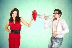 Il San Valentino divertente, serie di avvicinamento differente agisce Immagini Stock Libere da Diritti