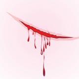 Il sangue del graffio degli artigli cade il fondo illustrazione di danno Immagine Stock