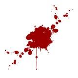 Il sangue di vettore schizza isolato Disegno dell'illustrazione Fotografia Stock