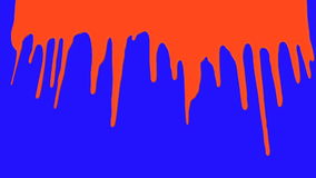 Il sangue versa su un fondo di schermo blu illustrazione di stock