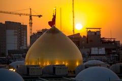 Il santuario dell'imam Hussein in Kerbala Fotografia Stock Libera da Diritti