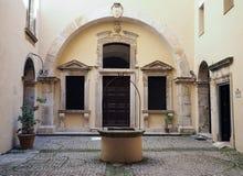 Il santuario della chiesa di Santissima Annunziata in Gaeta, Ital fotografia stock