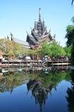 Il santuario della verità, Pattaya è una costruzione del tempio a Pattaya, Fotografie Stock