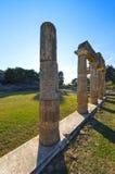 Il santuario di Artemis a Brauron, Attica - Grecia Immagine Stock
