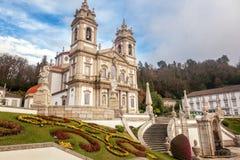 Il santuario di Bom Gesù fa Monte Punto di riferimento popolare e pellegrinaggio fotografia stock libera da diritti