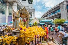 Il santuario di Erawan a Bangkok Immagini Stock