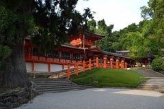 Il santuario giapponese a Nara, Giappone fotografia stock