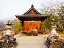 Il santuario a Shirakawa-va villaggio, Giappone Fotografia Stock Libera da Diritti