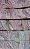 Il sapone si trasforma in in un'opera d'arte Immagine Stock