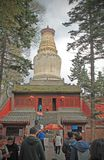 Il Sarira Stupa del tempio di Tayuan in WuTaiShan, Shanxi, Cina immagine stock libera da diritti