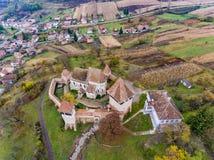 Il sassone di Alma Vii ha murato la chiesa nella Transilvania, Romania artistico Immagini Stock