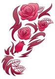 Il secchio fiorisce il tatuaggio Fotografia Stock
