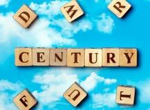 Il secolo di parola fotografia stock