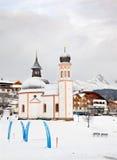 Il Seekirchl in Seefeld, Austria Immagini Stock