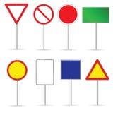 Il segnale stradale in bianco ha messo un'illustrazione di due vettori Immagini Stock
