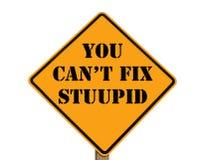 Il segnale stradale che lo indica non può riparare stupido Fotografia Stock Libera da Diritti