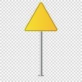 Il segnale stradale del metallo ha isolato in bianco per voi illustrazione vettoriale