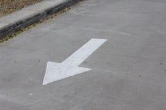 Il segnale stradale della freccia Fotografie Stock Libere da Diritti