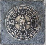 Il segno Boston Massachusetts della traccia di libertà Fotografia Stock Libera da Diritti