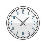 Il segno del cerchio dell'orologio di parete con il minuto del temporizzatore dell'allarme dell'ufficio della velocità dello stru Fotografie Stock Libere da Diritti