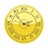 Il segno del cerchio dell'orologio di parete con il minuto del temporizzatore dell'allarme dell'ufficio della velocità dello stru Immagini Stock Libere da Diritti