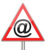 Il segno del email Immagine Stock