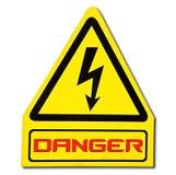 Il segno del pericolo di elettricità Immagine Stock Libera da Diritti