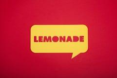 Il segno del testo della limonata Immagine Stock Libera da Diritti