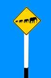 Il segno dell'elefante della famiglia Immagini Stock Libere da Diritti