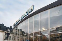 Il segno dell'entrata della centrale di Stoccolma Immagini Stock Libere da Diritti