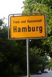 Il segno della città di Amburgo Fotografia Stock