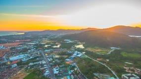 Il segno della nuova terra nell'intersezione di Phuket Darasamuth Fotografie Stock